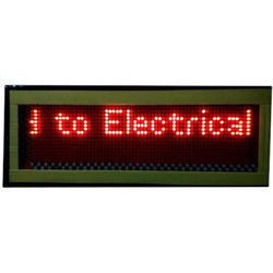 Scrolling Message LED Display Board, Shape: Rectangle