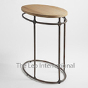 Antique Metal and wood stool