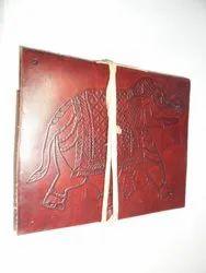 Elephant Designer Embossed Handmade Leather Journal