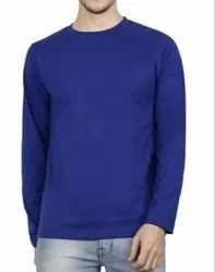 Cotton Full Sleeves Mens Round Neck T Shirt