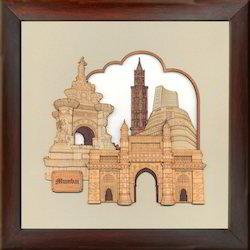Wood Paintings Mumbai Monuments, Shape: Square