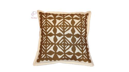 Cotton handmade applique work cushion cover size inch