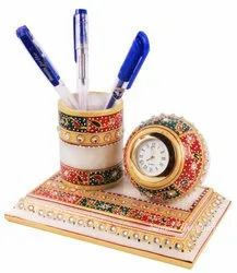 Marble Choki Watch With Pen Stand On Table