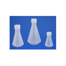 Flask Conical With Screw Cap PP