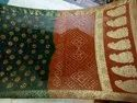 Bandhani Party Wear Art Silk Rich Pallu Saree, Length: 6.3 m (With Blouse Piece)