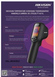 Temperature Screening Thermographic Hand Held Camera, Model Name/Number: Hikvision