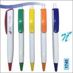 Plastic White Opaque Pen with Opaque Parts