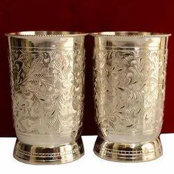 Brass Glass Set, Shape: Round
