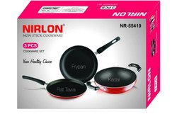 Nirlon 3-Piece Non-Stick Cookware Ideal for Cooking, Thickness 2.8mm Kitchenware Nonstick Set