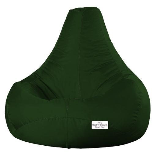 Polyester And Cotton Large And XXL Bean Bag Chair Teardrop Bottle Green
