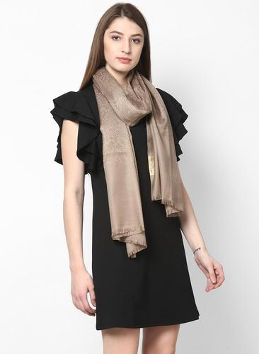 4cacb42351 Ecommerce Shop / Online Business of Light Brown Solid Stole & Orange ...