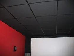 15 MM Thick Fiber Glass Wool Acoustic False Ceiling Tile