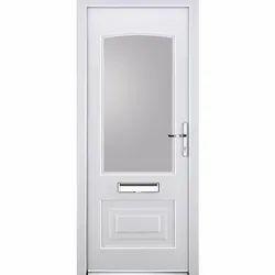 Toughened Glass 7 Feet UPVC Swing Door, 6-8 Mm
