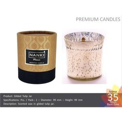 Gilded Tulip Jar Candles