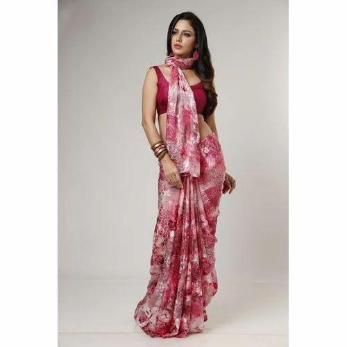 a33ca67df4 Floral Brasso Saree, Rs 1800 /piece, Garden Silk Mills Limited | ID ...