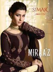 Textile Mall Presents Glossy Simar Miraaz Straight Salwar Kameez Catalog Collection