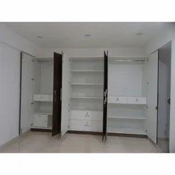Double Door Wood Modular Wardrobe