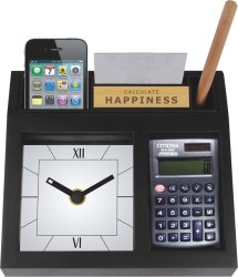 Promotional Table Clock Cum Pen Stand