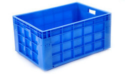 Solid Box Rectangular Plastic Jumbo Crate, Capacity: 76 Litres