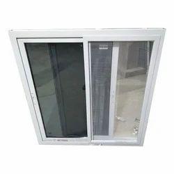 White Mosquito Net Sliding Window