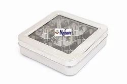 Square Masala Box-Dry Fruit Box