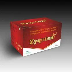 Solid Zyquten (Co-enzyme Q10, Lycopene, L-Carmitine, L-methyl Folate, Withania Somnifera, Astaxanthin), 10x1x10