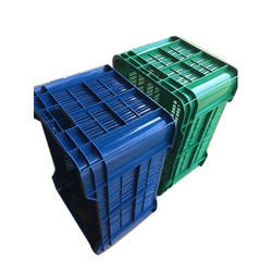 Blue/Green Rectangular Perforated Storage Crate, Capacity: 20-25 Kg, Size: Weight- 1.3-1.6 Kg