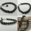 Trendy Gunmetal Hematite Unisex Round Bracelet