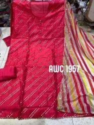 straight Semi-Stitched AWC silk suit