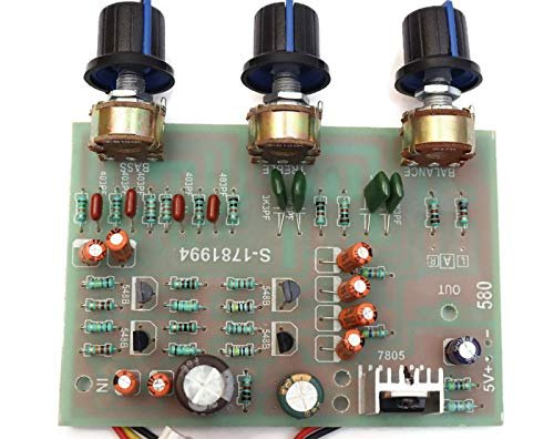 Stereo Preamplifier Tone Board Audio 3 Channels Bass Treble Control Equalizer Board