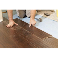 Brown Wooden Wood Laminate Flooring, Thickness: 8mm- 18 Mm