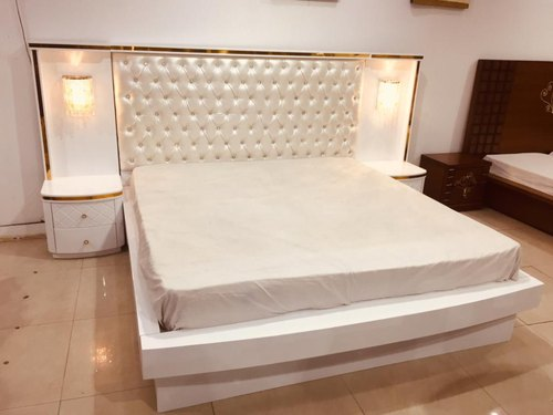 White Modern Wooden Double Bed Size 6 5 Feet Rs 28000 Unit Dream Furniture Id 22067154748