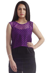 colornext Purple Lace Top
