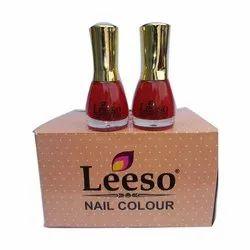 Leeso Screw Cap Red Nail Polish, Type Of Packaging: Glass Bottle, Liquid