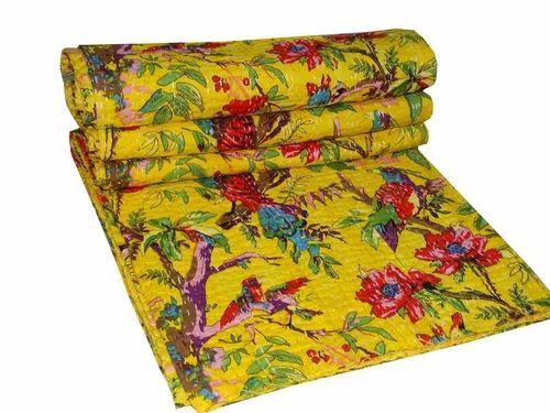 Kantha Blanket Kantha Quilt Bedspread Bed Cover Bedding Twin Kantha Quilt