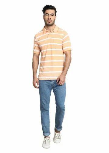 ddcbbc3419fb Slub Grey Colour Cotton Rich Polo Neck T-Shirts at Rs 399 /piece ...