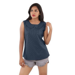 Girls Sleeveless Top, Size: S to XL