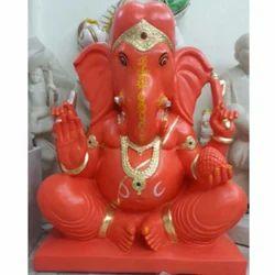 Orange Ganesha Murti
