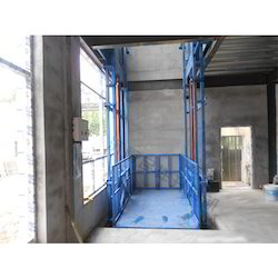 Mild Steel Industrial Elevator, For Warehouses, Capacity: 3-4 ton