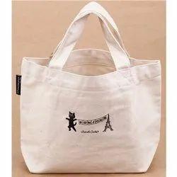 White Printed Fabric Bag