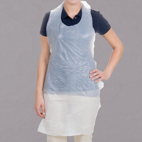 Blue PE Disposable Plastic Apron, Size: Large, for Safety & Protection