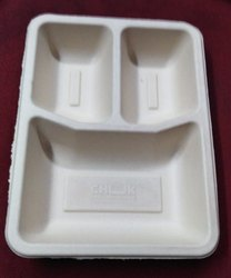 3 Compartment Bagasse Tray