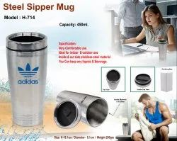 Steel Sipper Mug H-714