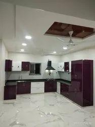 U-Shaped Acrylic Modular Kitchens