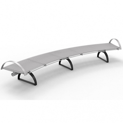 S.S. Curved Bench for Malls & Outdoor