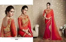 Richa Fashion World Georgette Embroidered Saree