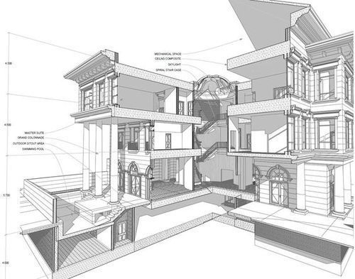 architecture building drawing. Residential Building Drawing Service Architecture Building Drawing