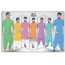 Cotton Rich Casual Mens Stylish Pathani Suit