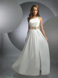 Western Georgette Princess Gown, Size: Medium