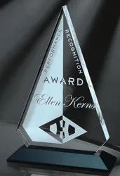 Glass Arrow Shape Trophy